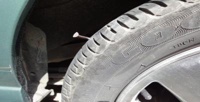 Punctured tire repairs